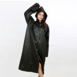 레이니 남녀공용 손목밴딩 우비(블랙)