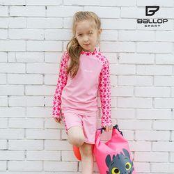 밸롭 레쉬가드(여아동세트)-스타 PI