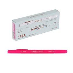 700 포켓컬러펜 2(핑크양면) 12개입