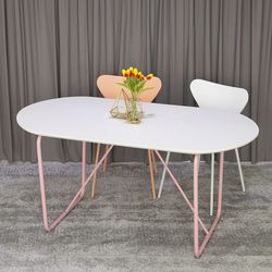 베스타 1600 화이트 타원형 식탁 라운드 테이블 4인 6인