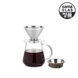 사마글라스 스텐 핸드드립 커피세트 600ml FT009