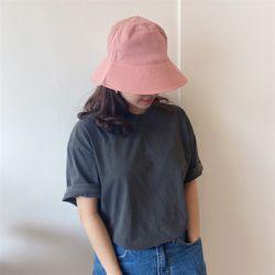배색 버킷햇 여성 벙거지 모자 버킷햇