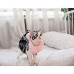 강아지 고양이 애견 복숭아 넥쿠션