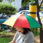 모자우산 특이한우산 모자양산 우산모자
