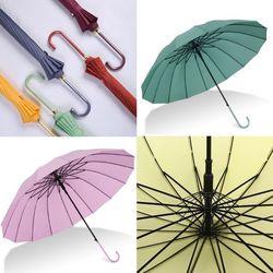 감성컬러 튼튼한 16K 장우산 롱핸들 방풍 자동 우산
