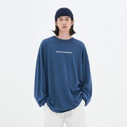 OVER-FIT LIGHT LONG SLEEVE T-SHIRT BLUE