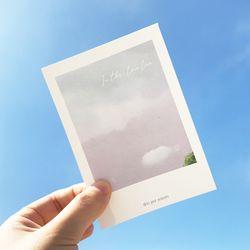 폴라로이드 감성 하늘 미니 엽서