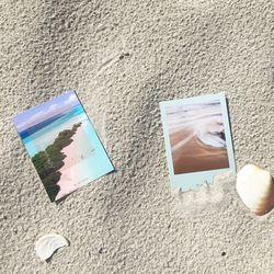 폴라로이드 감성 바다 미니 엽서