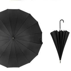 대형 튼튼한 반자동 고급 패션 우산 이쁜 장우산black