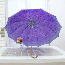 자동 도트 패션 그라데이션 자동 튼튼 곡자 장우산