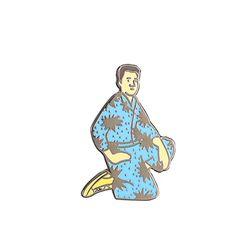 강수정 파란잠옷 뱃지