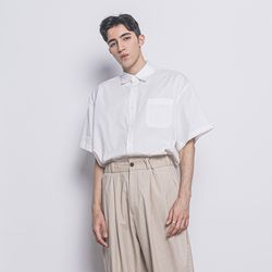 M53 pocket over half shirts white
