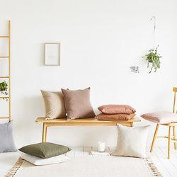 사각 의자 방석 면 패브릭 북유럽 카페 인테리어 6color