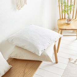 사각 의자 방석 광목 아이보리 화이트 인테리어 2color
