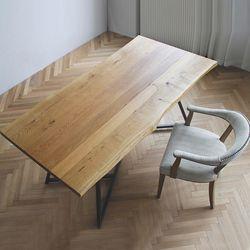 오버 와이드 파인트리 모던 우드슬랩 카페 고재테이블