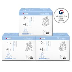 자우버 수애 손 소독티슈 실속형 30매입(개별포장)x3BOX