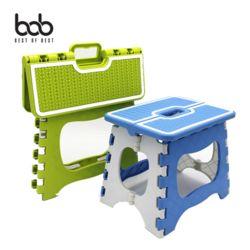 bob 니트패턴 휴대용 접이식 폴딩 체어 플라스틱 중형