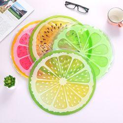 여름 과일모양 원형 젤매트 쿨배개 쿨방석