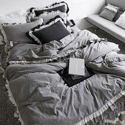 특급호텔 바이오 워싱 광목 클래식 침대스커트세트(SS)