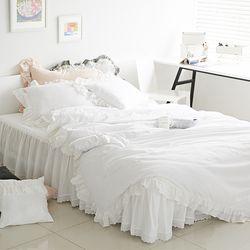 특급호텔 바이오 워싱 광목 클래식 침대스커트세트(K)