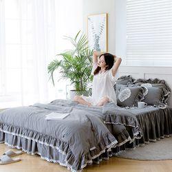 여자의침실 특급 바이오 워싱 광목 침대커버세트(SS)