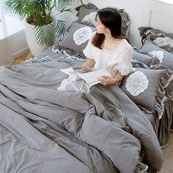 여자의침실 특급 바이오 워싱 광목 침대커버세트(Q)