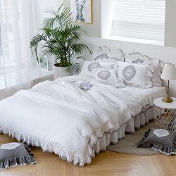 여자의침실 특급 바이오 워싱 광목 침대커버세트(K)