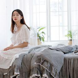 여자의침실 특급 바이오 워싱 광목 매트커버세트(Q)