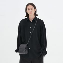 LOOSE-FIT LINEN SHIRTS BLACK