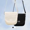 HALF MOON CANVAS CROSS BAG