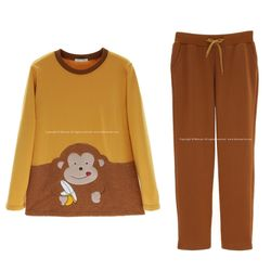 love 원숭이 바나나 잠옷 투피스