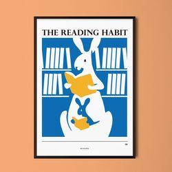 독서습관 M 유니크 인테리어 디자인 포스터 A3(중형)