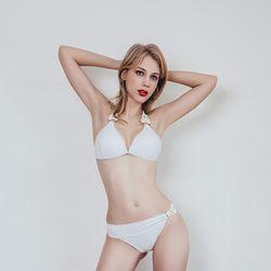 love 뜨개 레이스 비키니 여자수영복