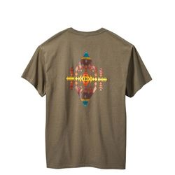 다이아몬드 피크 반팔 티셔츠 브라운