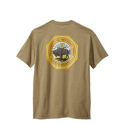 옐로우스톤 내셔널 파크 로고 프린팅 반팔 티셔츠