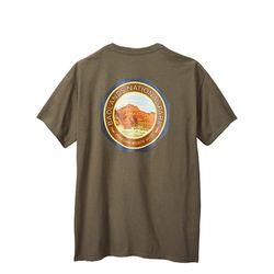 배드랜드 내셔널 파크 로고 프린팅 반팔 티셔츠
