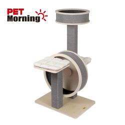 고양이 놀이터 펫모닝 원목 휠타워 PMC-6516
