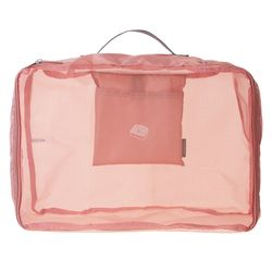 PESPES. 폴딩 파우치 핑크 L