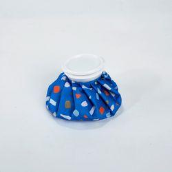 테라조 프린트 아이스백 6인치 블루
