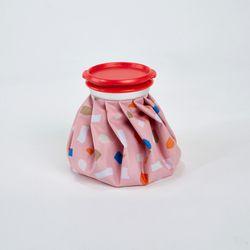테라조 프린트 아이스백 6인치 핑크