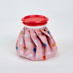 테라조 프린트 아이스백 7인치 핑크