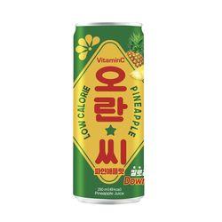 [무료배송] 오란씨 파인애플 250ml 캔 30입