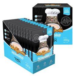 맛있는 고양이 간식 미우수프 480g(40g 12개)참치붉은등살