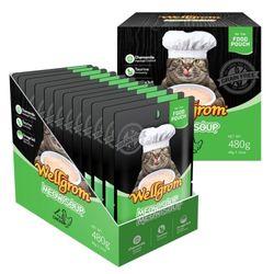 맛있는 고양이 간식 미우수프 480g(40g 12개)닭가슴살