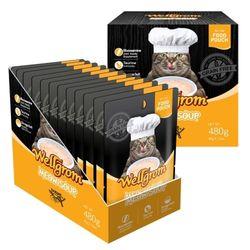 맛있는 고양이 간식 미우수프 480g(40g 12개)왕새우속살