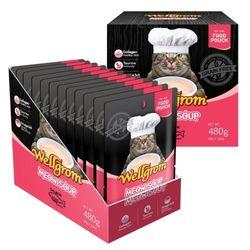 맛있는 고양이 간식 미우수프 480g(40g 12개)연어뱃살