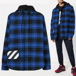 10주년 체크 후드 셔츠 자켓 OMGA061E18A27001 3000
