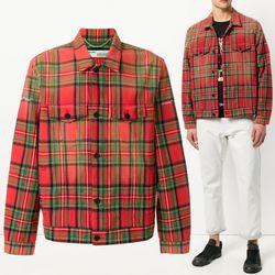 18SS 체크 셔츠 자켓 레드 OMEA012S18792013 9901