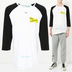 18SS 파이어 테이핑 티셔츠 OMAB018S18185006 0160