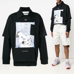 19SS 레이어드 프린팅 티셔츠 OMAB027R19185008 1088